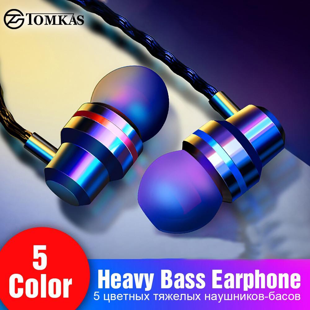 TomKAS проводные наушники наушники 3,5 мм в ухо наушник с mic Stereo гарнитура 5 Цвет для телефона компьютера фото