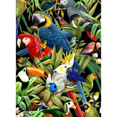 Parrot DIY 5D Diamond Painting Bird Art Drill Cross Stitch Animal Kit Home Decor