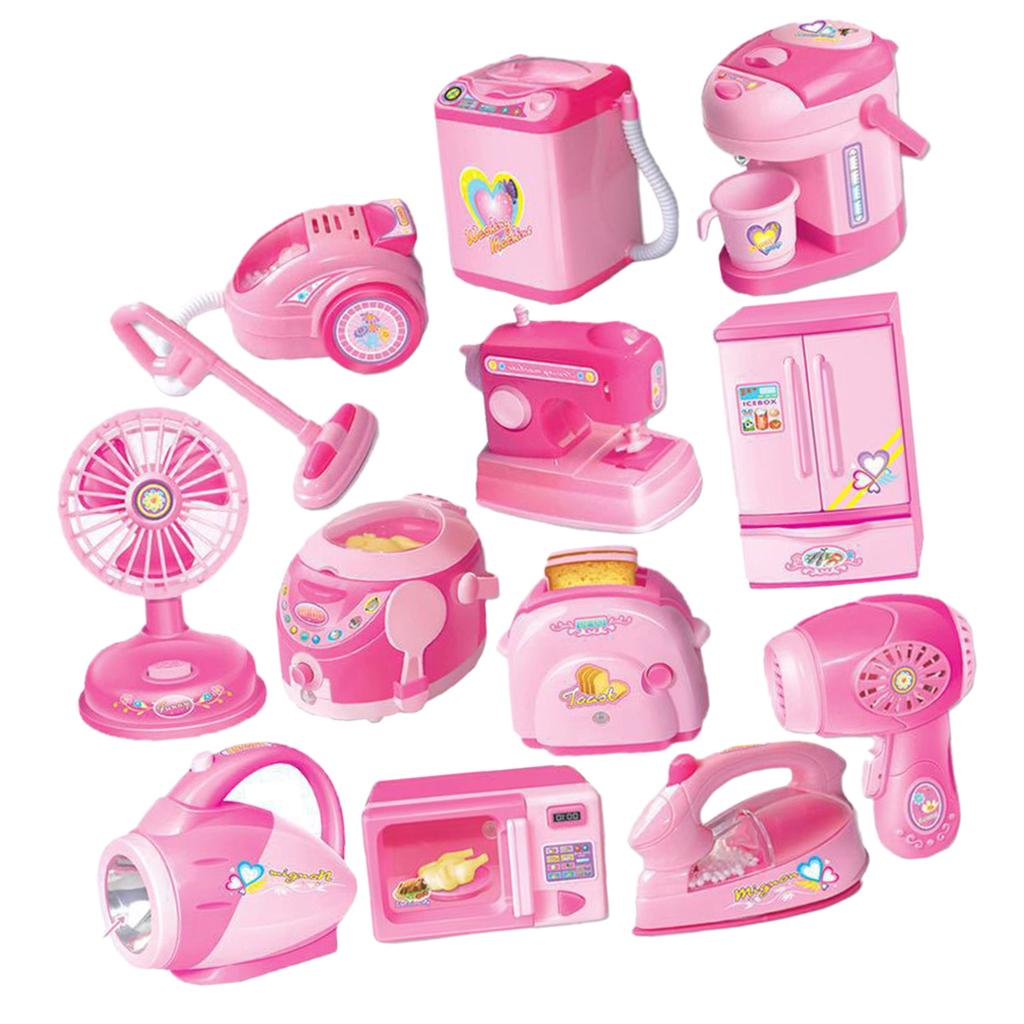 Buy 12 Pieces Mini Flash Kitchen Home Appliances Set Toys For Kids Pretend Play At Affordable Prices Free Shipping Real Reviews With Photos Joom