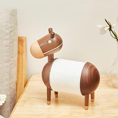 Solid Wood Kitchen Paper Towel Holder