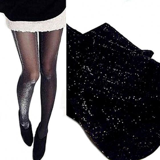 Мода женщин блестящие более длинные носки колено блеск Глянцевая высокой колготки чулки фото