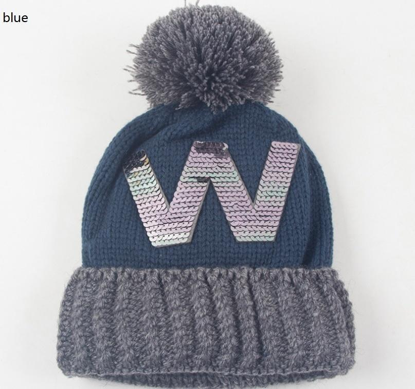 3fa2de320d5 Chicago Cubs W Champions Cap Warm Knitted Hat Ear Muffs Bonnet ...