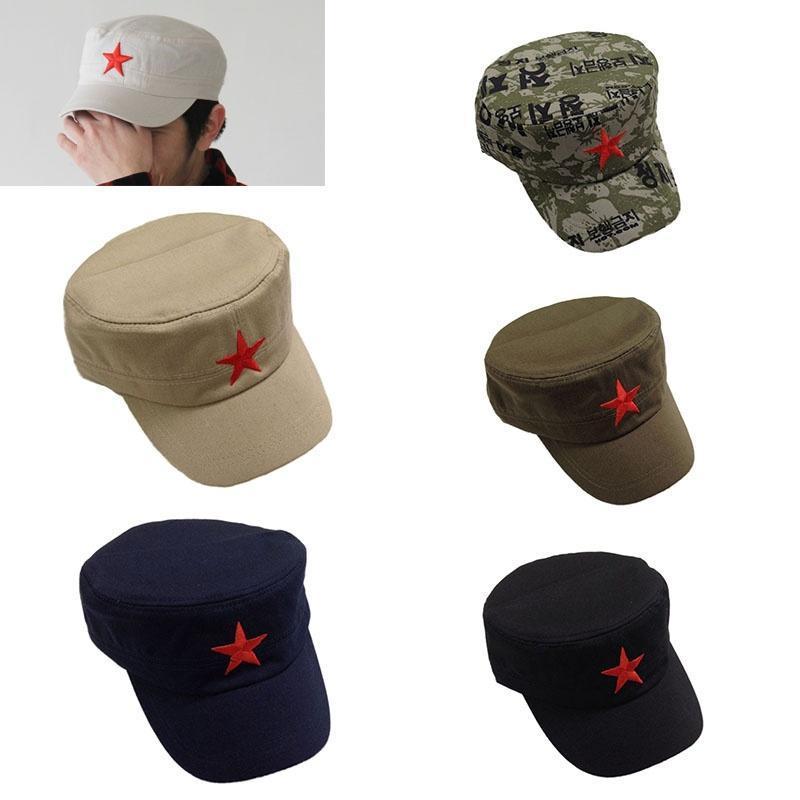 Ejército soviético Red Hat estrella gorra militar soldado ruso gorros disfraces