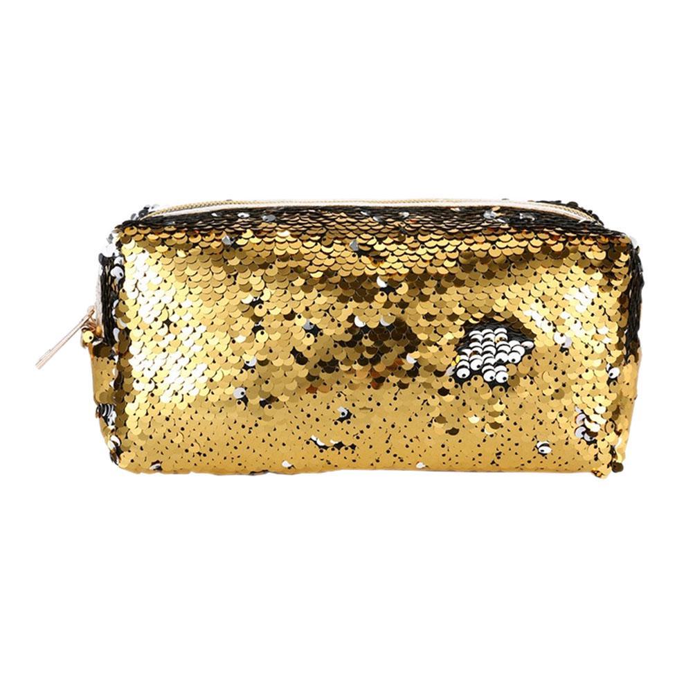 d4fc909f0 Sirena lentejuelas mujeres brillan bolsa de cosméticos maquillaje cremallera  caja almacenamiento - comprar a precios bajos en la tienda en línea Joom