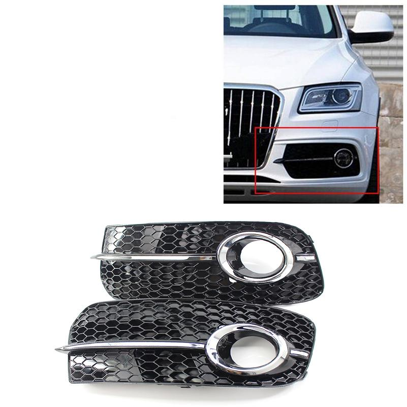 For Audi Q5 8R 2013 2014 2015 2016 Lower Bumper Fog Light Air Guide Grille Cover