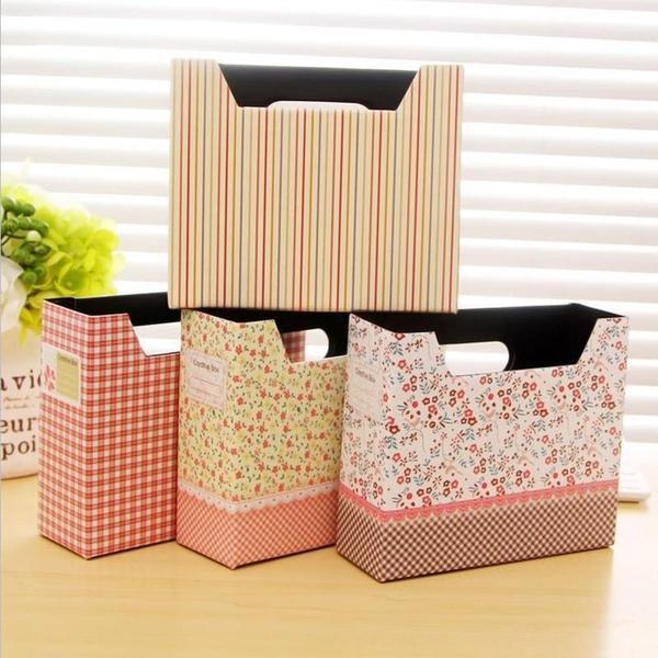 1771 时尚日韩风田园碎花小桌面收纳盒整理盒