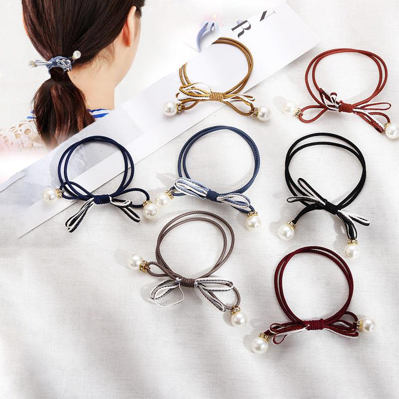 Headbands Simple Multi-layer Rubber Band Hair Ring Girls Tied Hair Rope Elastic