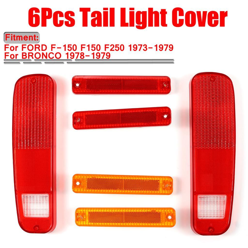 6pcs Red Tail Light And Side Fender Marker Lights Kit For Ford 73 79 F 150 F150 F250 Truck 78 79 Buy At A Low Prices On Joom E Commerce Platform