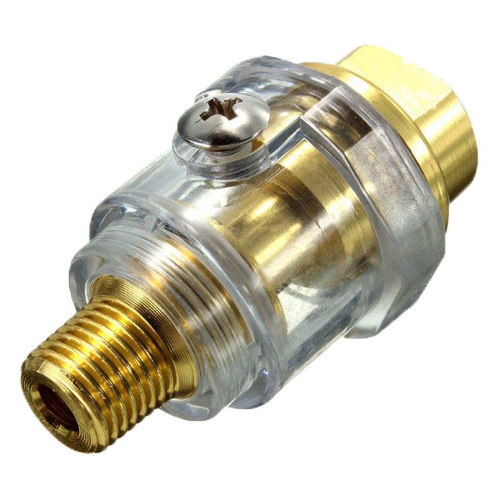 Oiler Lubricator 1//4 BSP Mini In-Line Oiler Lubricator for Pneumatic Tool /& Air Compressor Pipe with Filter and Automatic Water Supply Function