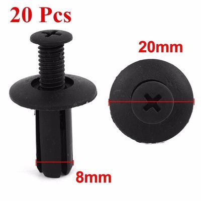 50Pcs 8mm Hole Plastic Push Pin Rivet Fastener Clips for Car Bumper Door Trim
