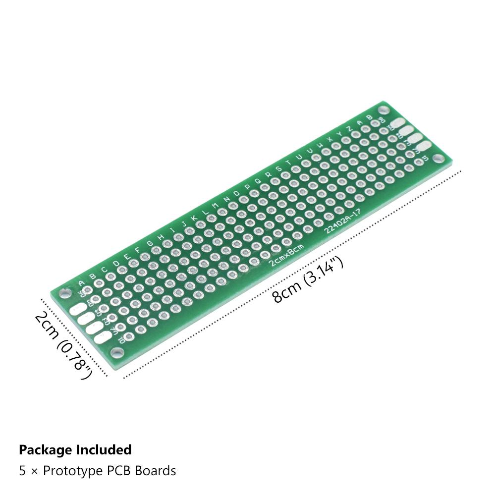Arduino Double Side 7x9cm FR-4 Prototype PCB Universal Circuit Board 1.6mm x2