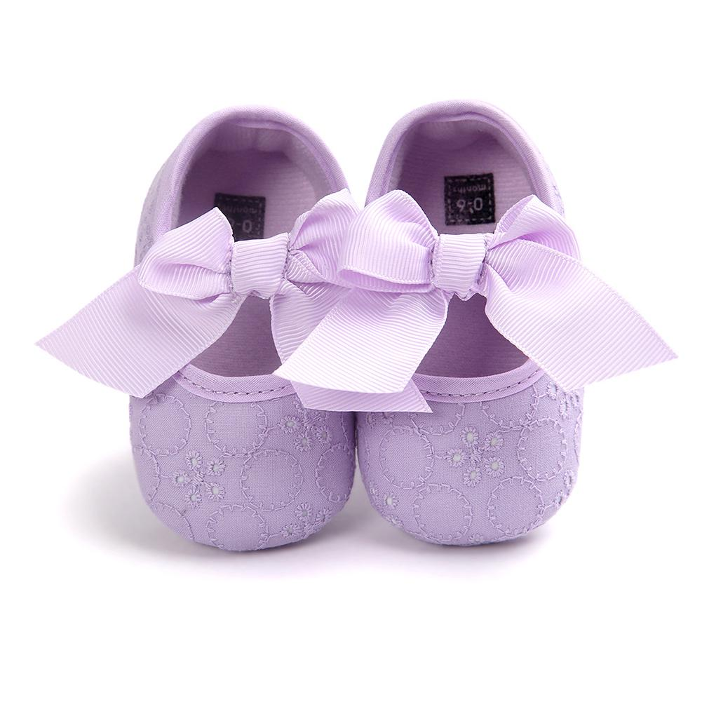 Baby Girls Lovely Bowknot Infant Princess Soft Sole Prewalker Toddler Shoes Gift