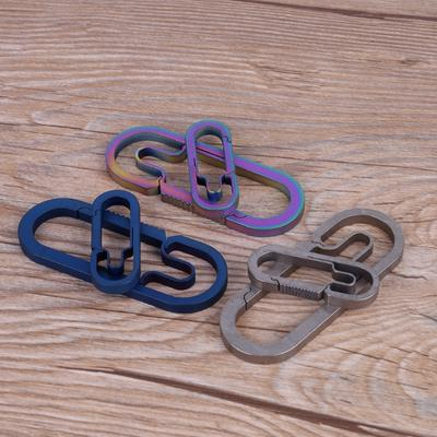Titanium Alloy Outdoor Camping Carabiner Keychain Hanging Buckle Snap Hook
