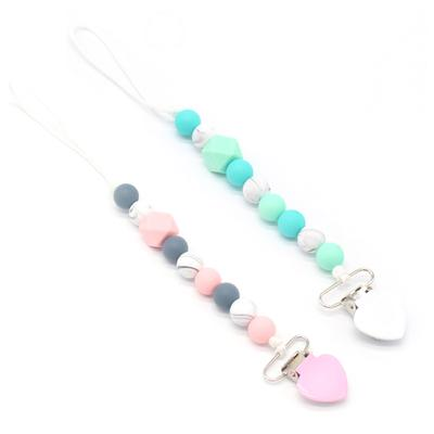 Baby Pacifier Chain Silicone Beads Teething Pacifiers Clip Nipple Soother Holder