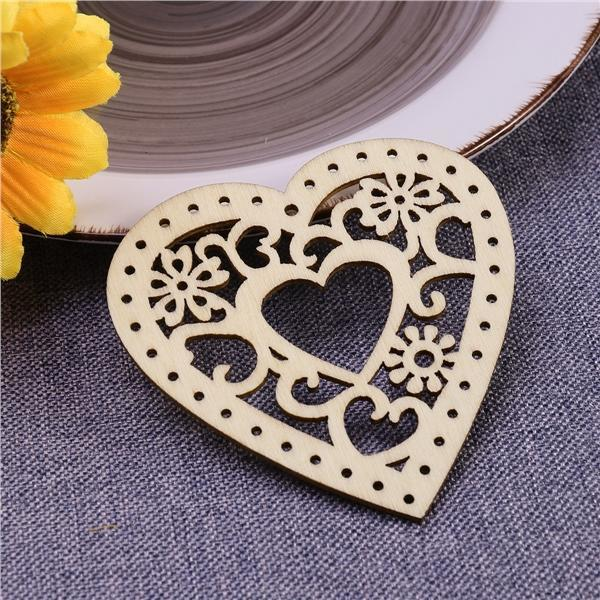 Hollow Hanging Ornament Wooden Pendants Crafts For Home 10pcs Wedding Pendant W