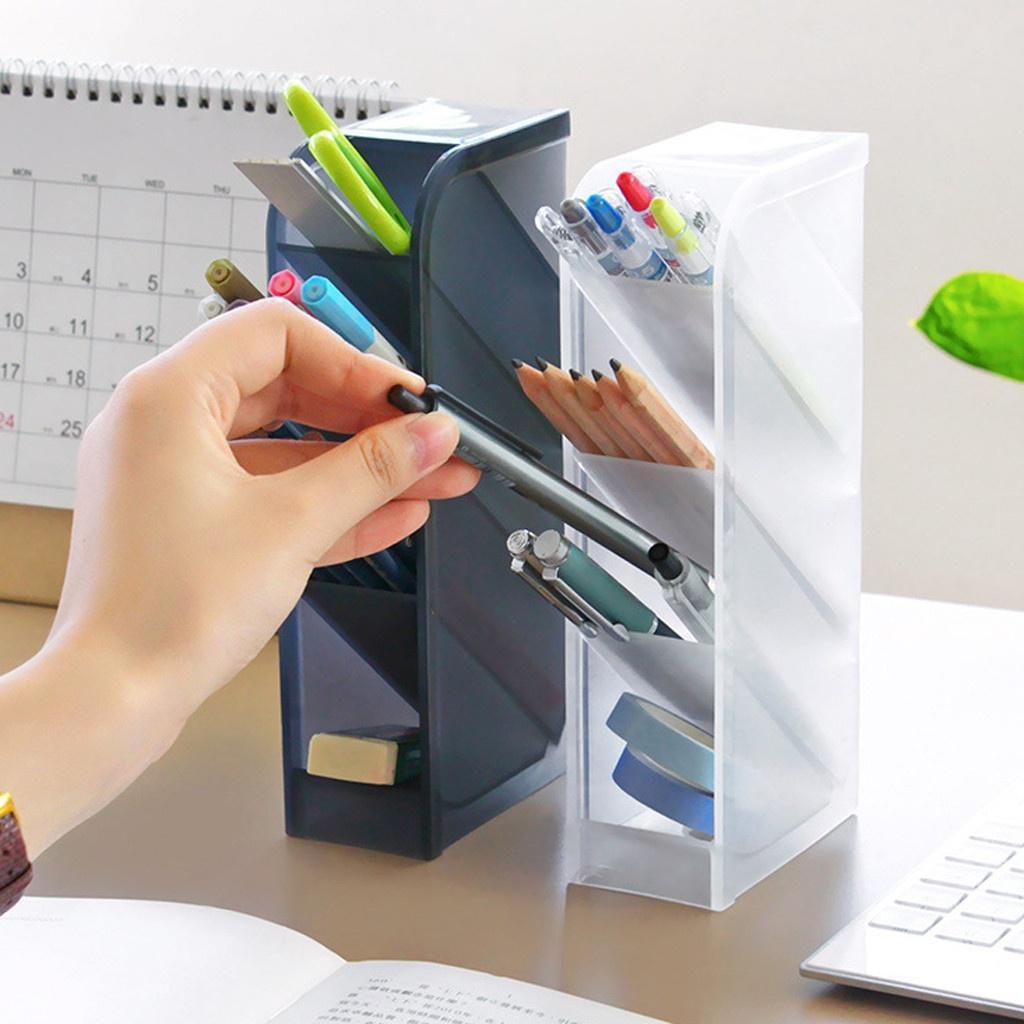 Ручка держатель настольного мусора Организатор хранения box для пера макияж кисть хранения фото