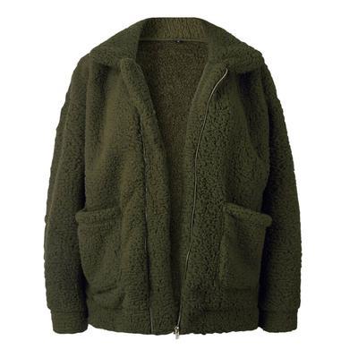 Жіночі зимові пухнасті штучного хутра довгий піджак рукавом теплі верхній  одяг пальто 5234e05616332
