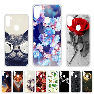 Soft Case for Samsung A11 Case Silicone for Samsung Galaxy A11 European Edition Cover Cute Cat Animal Flowers Patterned Phone Bumper