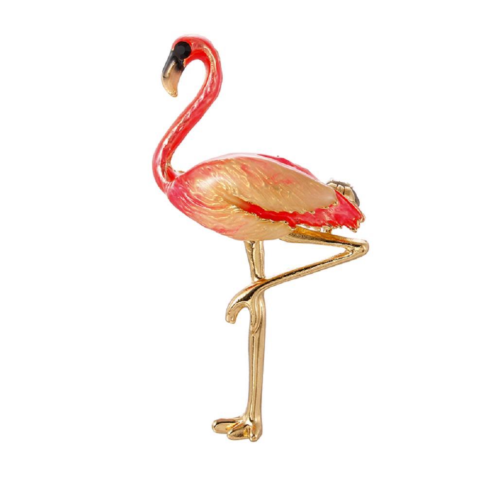 Animal Pin Brooch Lapel Bee Cat Dog Bird Flamingo Rhinestone Pins Jewelry Gifts