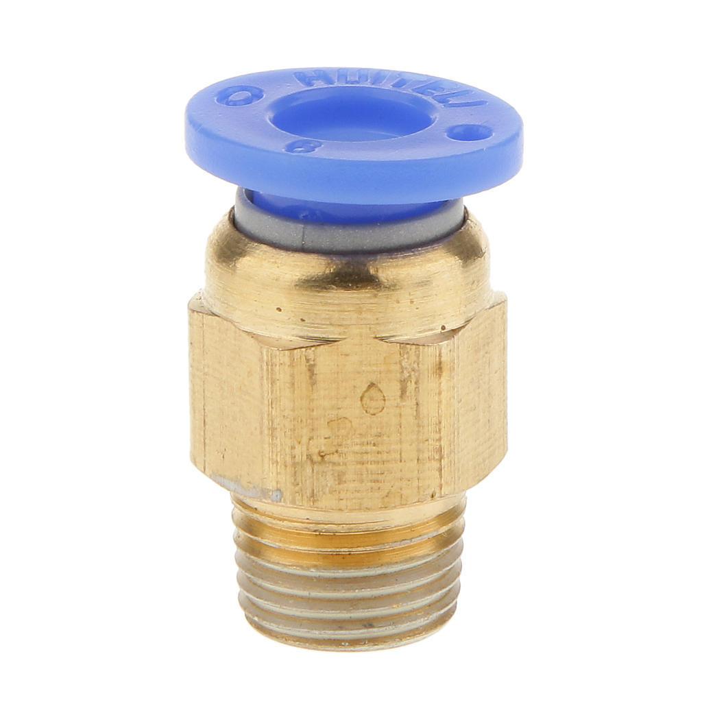 Straight 6 mm Push-In M5 Pneumatique Raccord