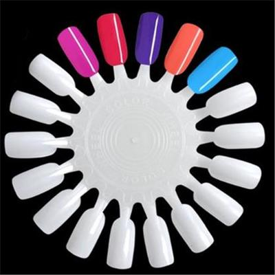 18 Color Round Nail Polish Display Board Nail Art Practice Tools Buy