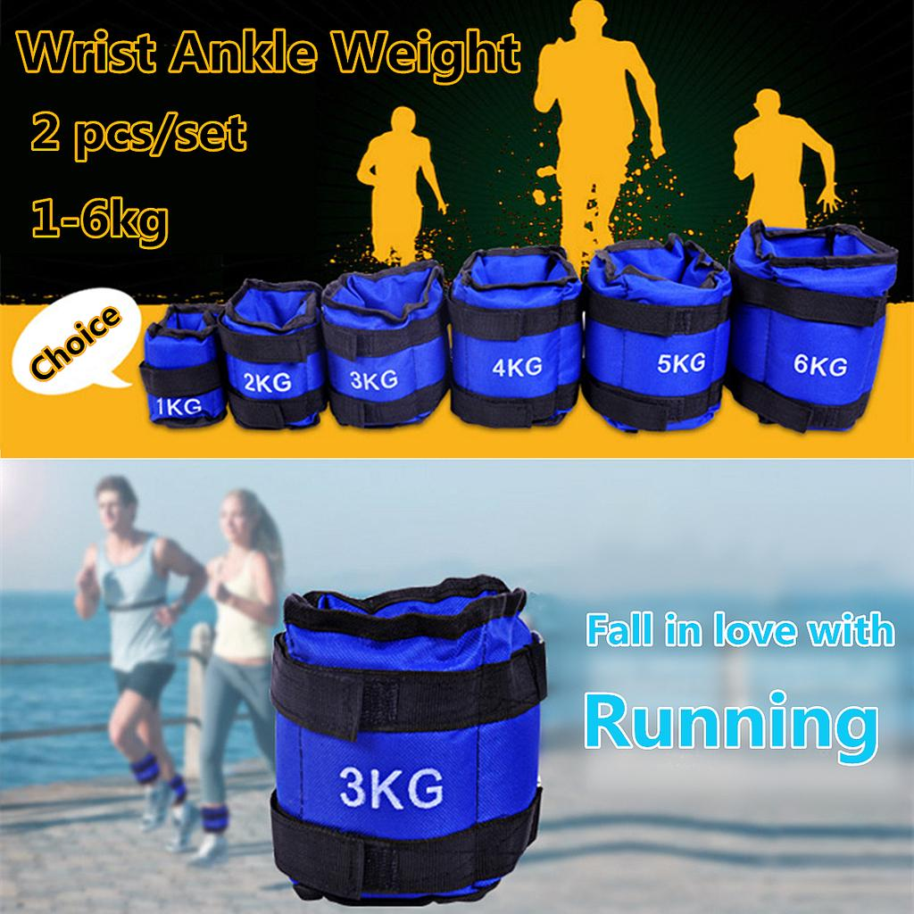 Wrist Ankle Weights Exercise Fitness Gym Training Running Resistance Stength 3KG
