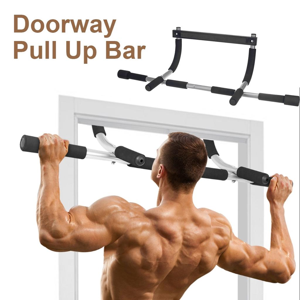 Doorway Pull Up Bar Door Frame Exercise Chin up Fitness Gym Training Home