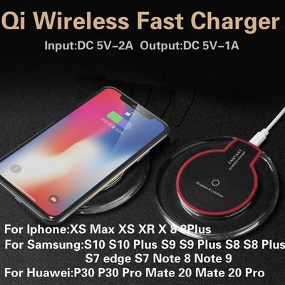 Ultra thin QI Wireless Charger Charging Pad For IPhone 11 11