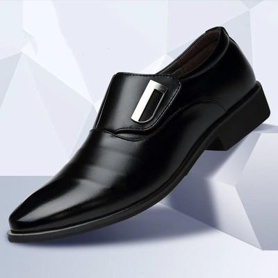 YLY Mens Fashion Oxford Casual Personality with Bright Leather Splicing Patent Leather Formal Shoes Fashion Slipper