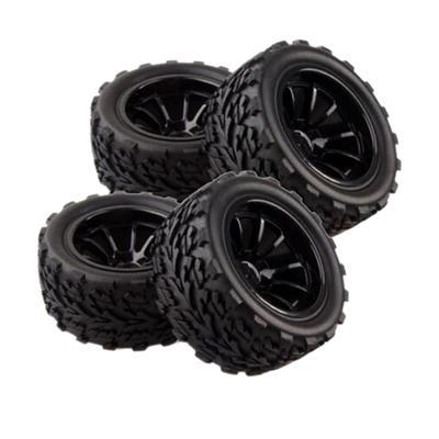 4Pcs RC Car 1/10 Racing Wheel Rim Tires for HSP HPI REDCAT TRAXXAS
