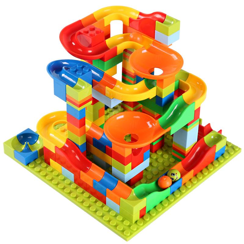 330pcs Small Size Marble Run Set Puzzle Maze Race Track Game Toy Building Block