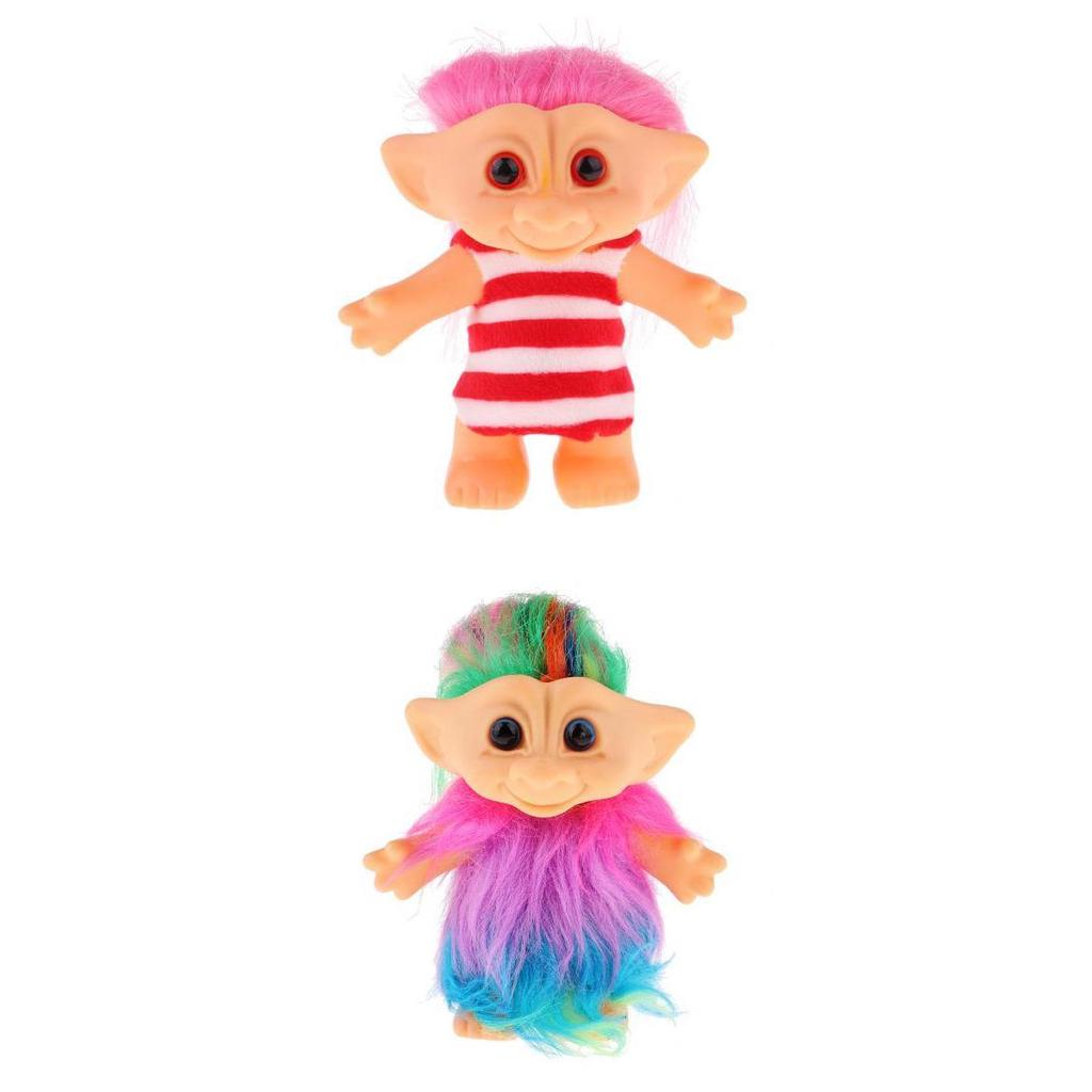 Delicate Lucky Troll Doll Mini Action Figures Toy Cake Desk Decor Colorful