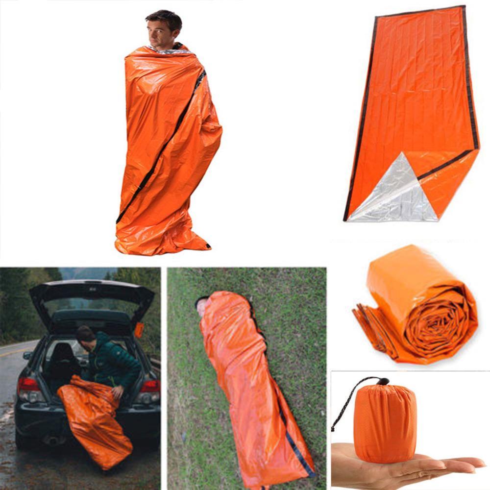 Details about  /Outdoor Life Bivy Emergency Sleeping Bag Keep Warm Thermal Mylar Waterproof
