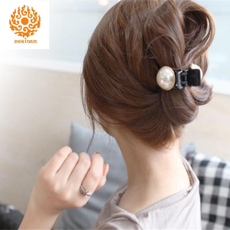 Women Girls Pearl Rhinestone Headdress Hairpin Clip Hair Claw AccessorieD/_Qo