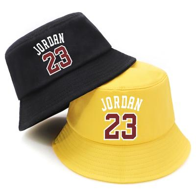 Summer Bucket Hat Jordan 23 Print Foldable Fisherman Cap Woman Soft Beach Sun Hats Man Panama Caps Hip-hop Hat Travel Hat