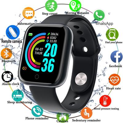 A smartwatch with a 1.3 inch screen, IP67 water protection and a pulsometer