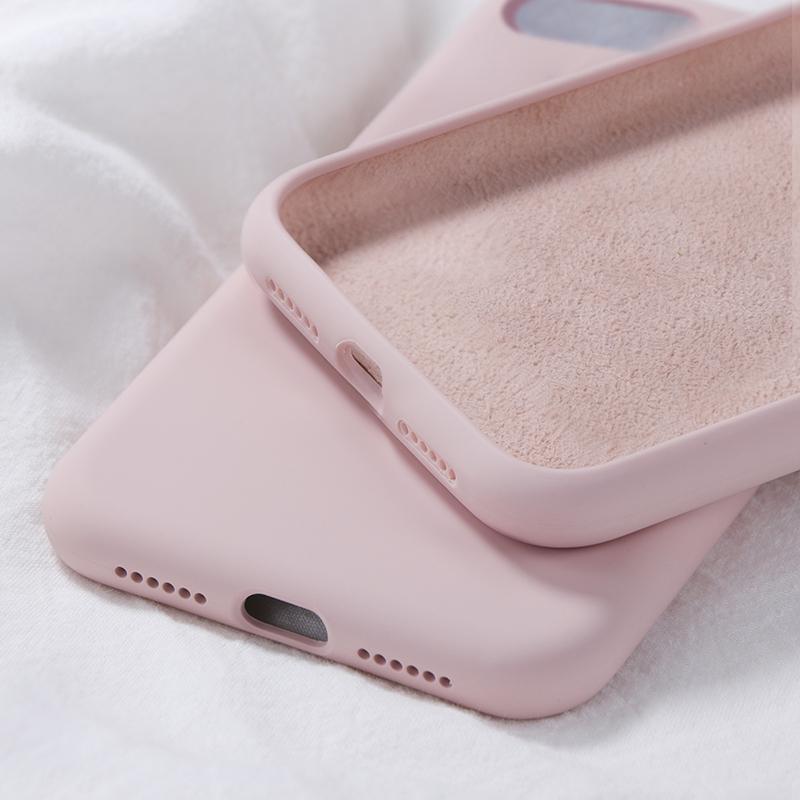 Custodie in colore caramella cover in tinta unita in silicone per iPhone 7 6S 8 Plus XX XS Max Xr Soft TPU Shell Cover