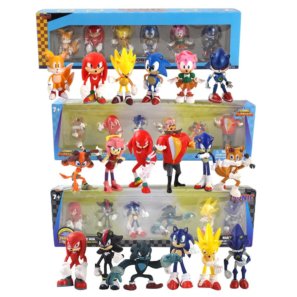 Collectible  Super Series 8 Pcs Sonic The Hedgehog Minifigure