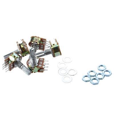 4pcs B50K 50K ohm 3 pin Linear Taper Rotary Potentiometer Pot Linear shaft 15mm