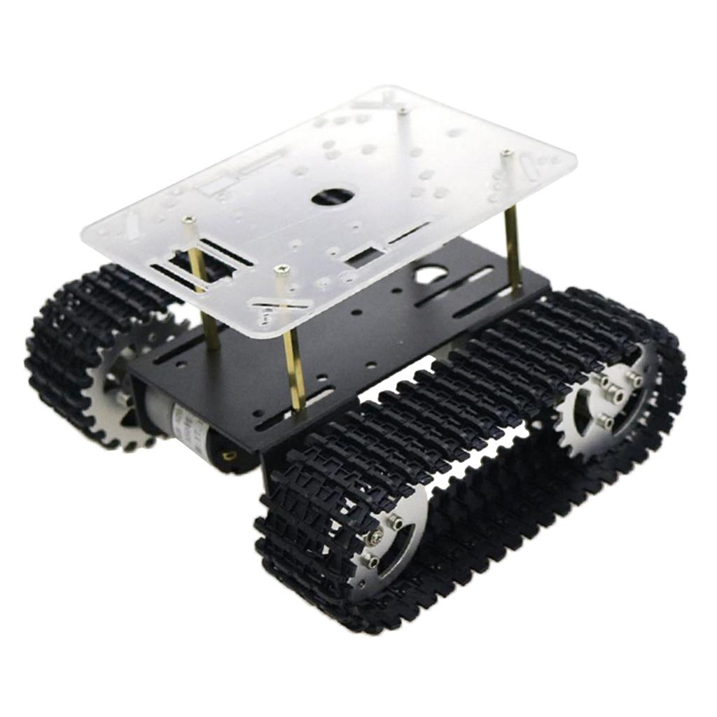 Metal Robot Tank Crawler Chassis 9V Coded For Arduino Education Competition