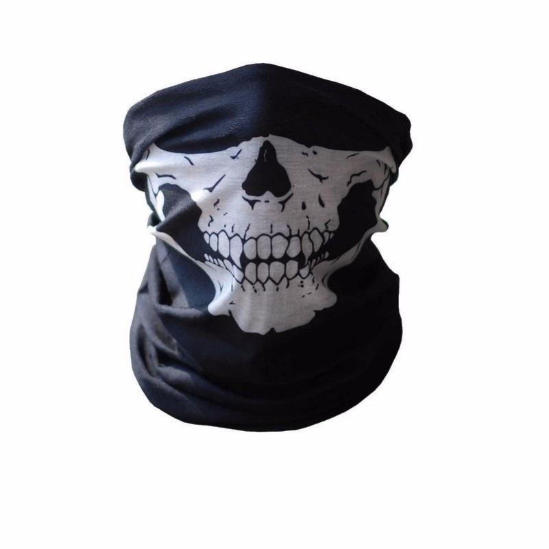 Skull Hockey Mask Design Half Face Mask Neoprene Bandana