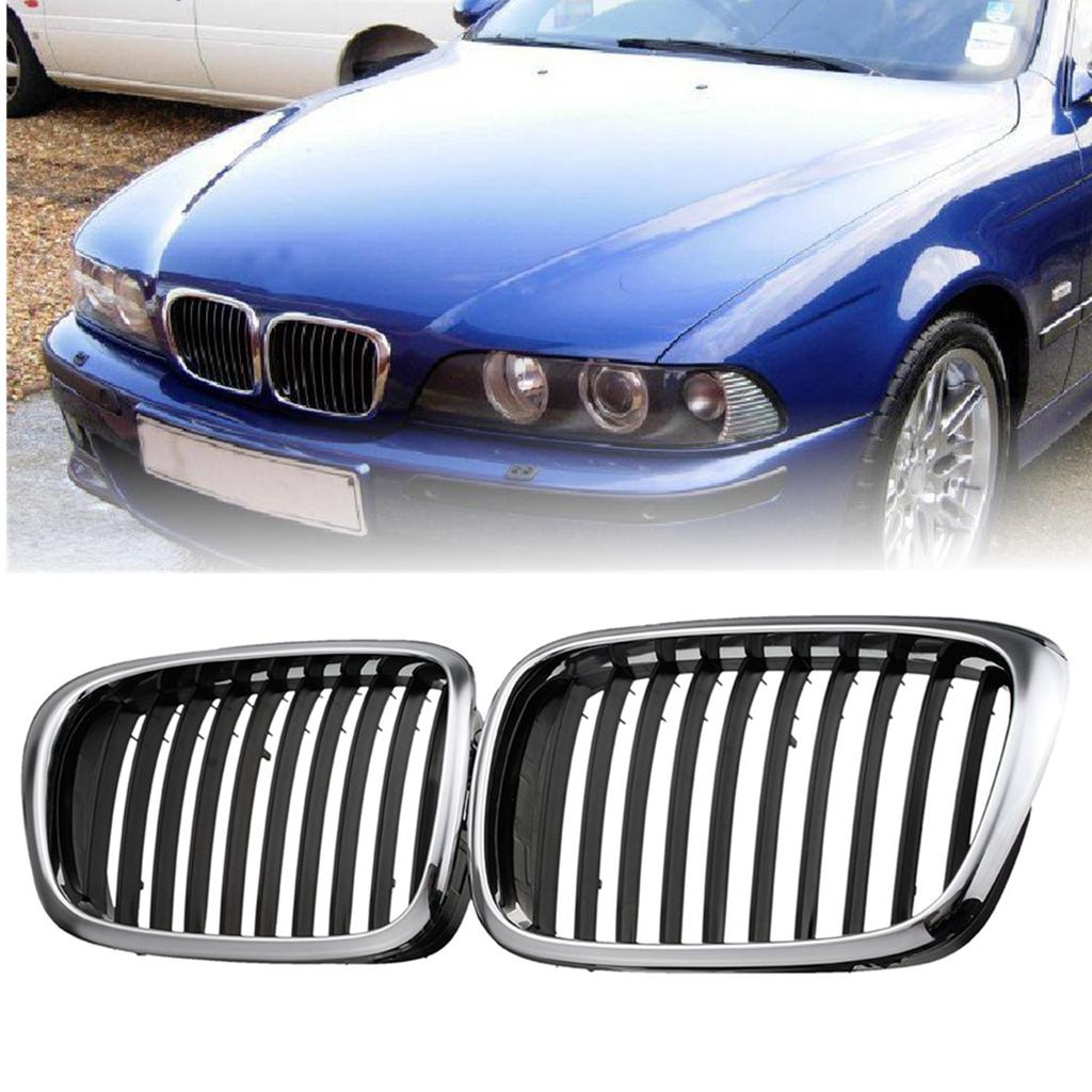 PAIR BMW M5 540 528 e39 Door Side Moulding Motorsport Emblem Badge INDIVIDUAL