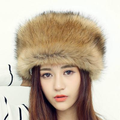 757aa998dd7 Russian Autumn and Winter Hats Fashion Imitation Fur Hat Ladies Warm  Fashion Hats Dome Cap