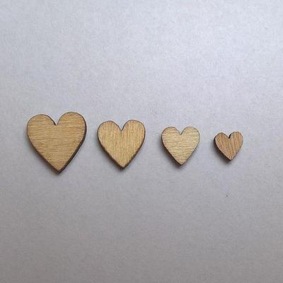 100pcs Rustic Wooden Mini Love Heart Wood Cutout Wedding Embellishment Craft G