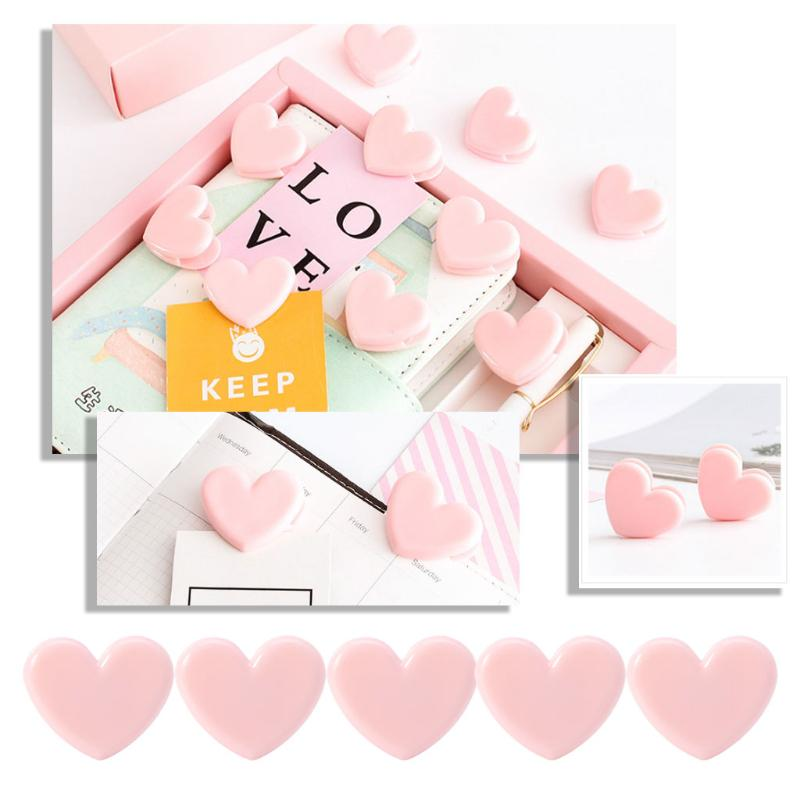 12pcs Envelop Forma Clips de papel Rose Golden Color Clips de papel decorativo papel clips Bookmark marca documento organizar