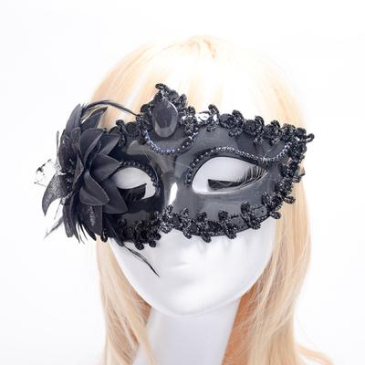 Women Men Colorful Mask LED Light Feather Masquerade Party Costume Face Props