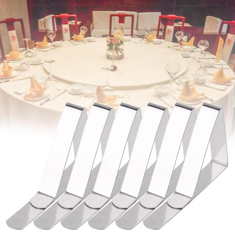 Plastic Clear Tablecloth Table Cover Clips Holder Clamps For Party Wedding CA