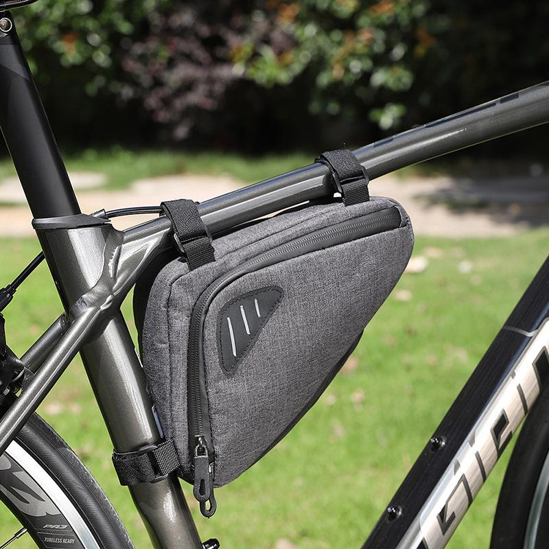 Waterproof Mountain Bike Cycle Bicycle Bag Frame Front Tube Bags Storage Pouch