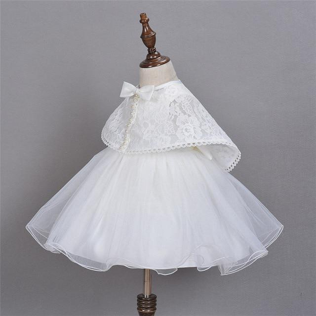 9c24428ed07c1 Baby Princess Dress + Pearl Lace Shawl Infant Christening White Baptism  Dresses Toddler Gown Girls-buy at a low prices on Joom e-commerce platform