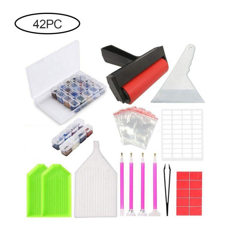 28PCS 5D DIY Diamond Painting Cross Stitch Tool Art Painting Accessories Kit DIY